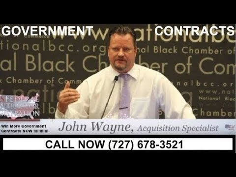 Federal Contract Bid Training Federal Contract Training by John Wayne II Head Procurement Placement
