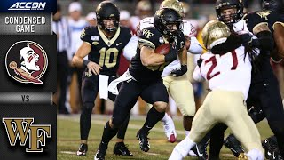 Florida State vs. Wake Forest Condensed Game | ACC Football 2019-20