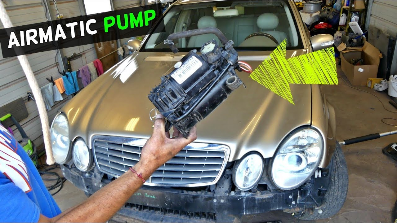 HOW TO REMOVE REPLACE AIRMATIC PUMP ON MERCEDES W211