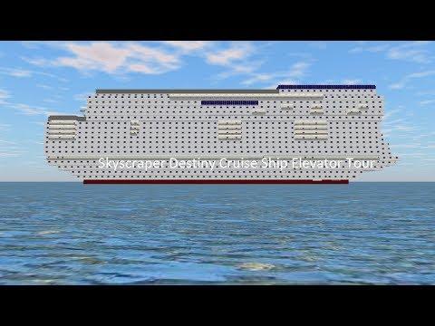 Tour of the Elevators @ Skyscraper Destiny Cruise Ship