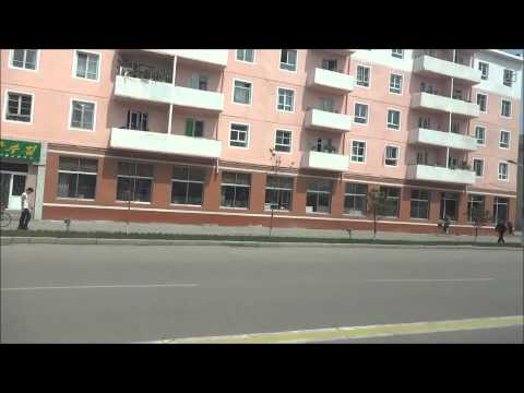North Korea: Bus Ride in Rason City  北朝鮮:羅先市をドライブ