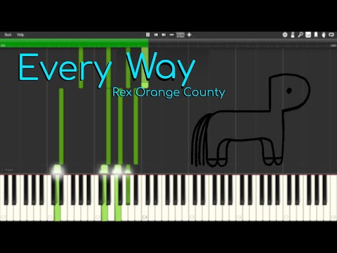 Every Way - Rex Orange County | Tutorial / Cover / Instrumental