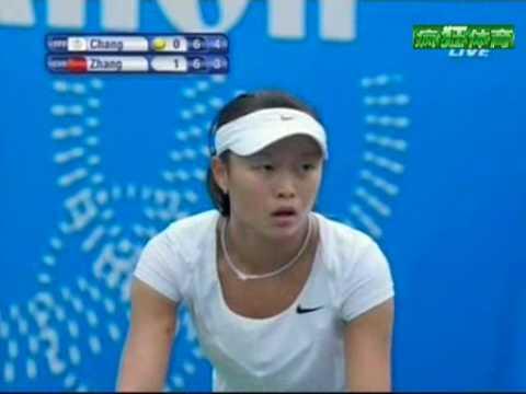 East Asian Games Tennis Women's singles Final: Kai-Chen Chang vs Shuai Zhang 2nd set tiebreak