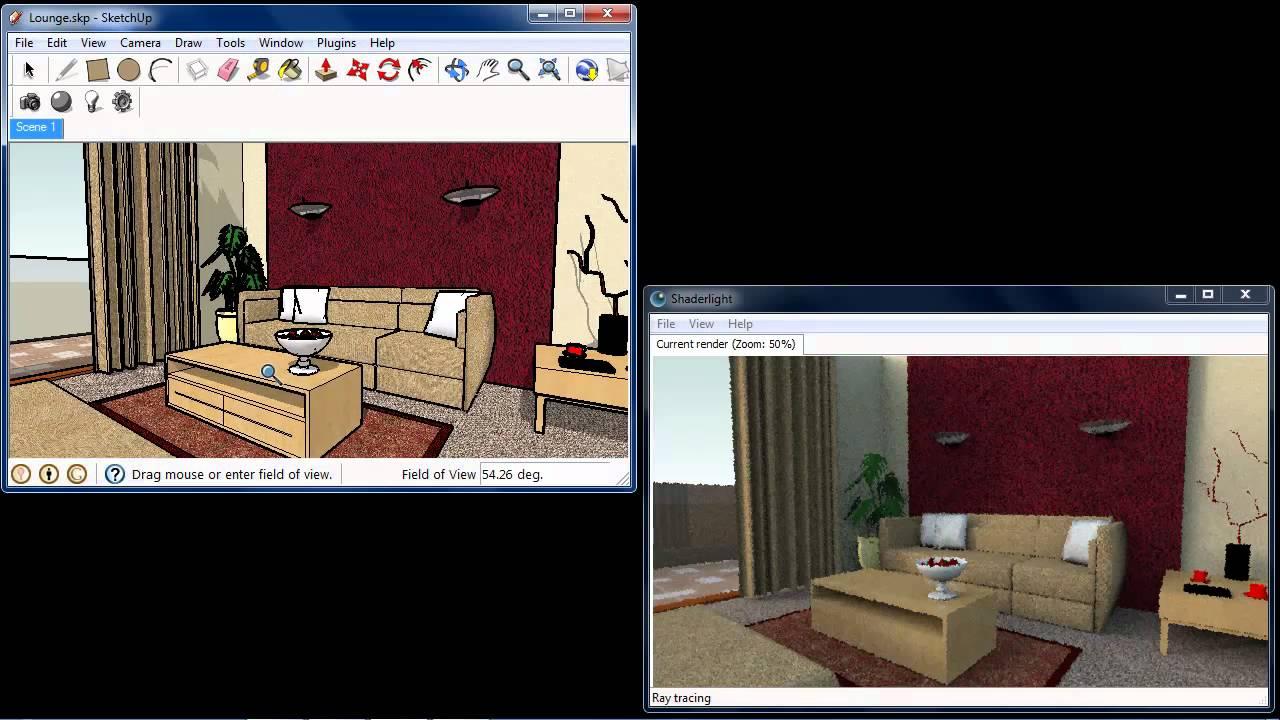 shaderlight for sketchup demo youtube