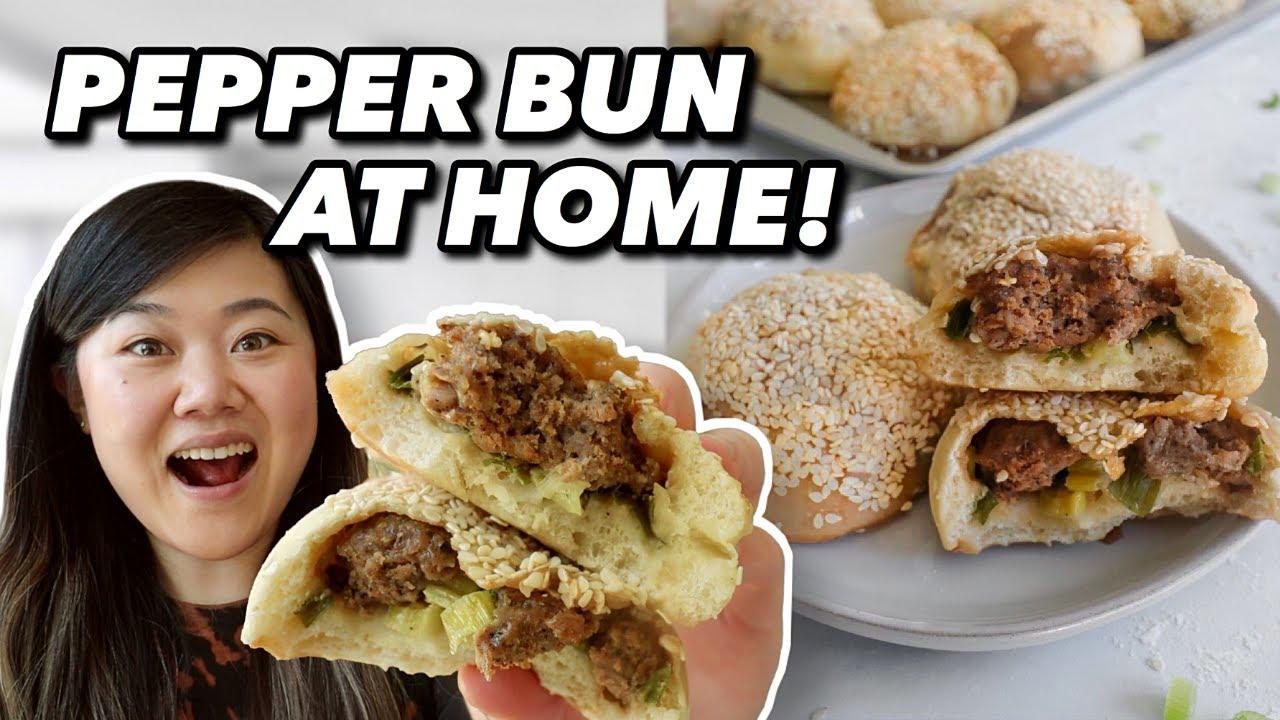 Beginner Cook Tries to Make Famous TAIWANESE PEPPER BUN! (Easy Hujiao Bing Recipe)
