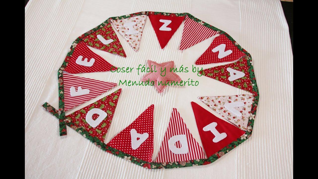 Adornos de navidad guirnalda de banderines feliz navidad - Guirnalda de navidad ...