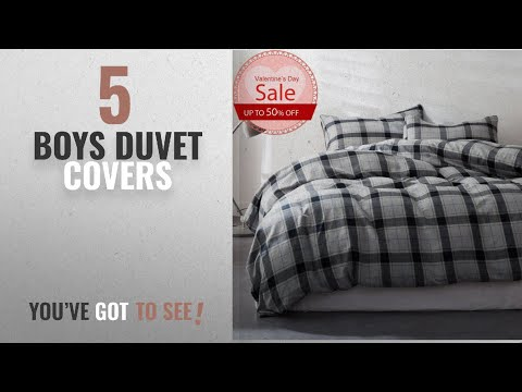 Top 10 Boys Duvet Covers [2018]: Luxury Duvet Cover Sets Twin Size Thin Flannel Plaid Printed