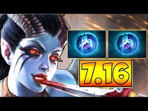видео: НОВЫЙ ПАТЧ 7.16! ДВОЙНАЯ ЛИНКА! КВОПА 7.16 ДОТА 2 █ queen of pain 7.16 dota 2