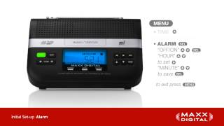 Initial Set-Up of Your Maxx Digital Automatic Alert Radio
