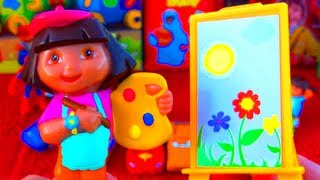 Dora The Explorer Surprise Egg Unboxing Artist Dora Toy With Painting Kit Fisher-price Nickelodeon