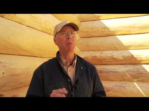 Energy efficient log cabin construction workshop