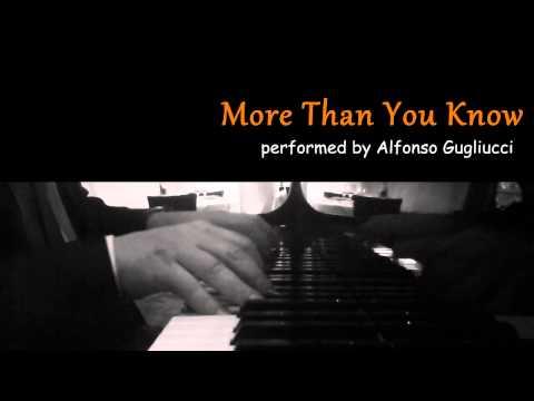 More Than You Know - jazz piano improvisation