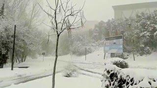 Ifrane ville, Février 2016, neige tombante
