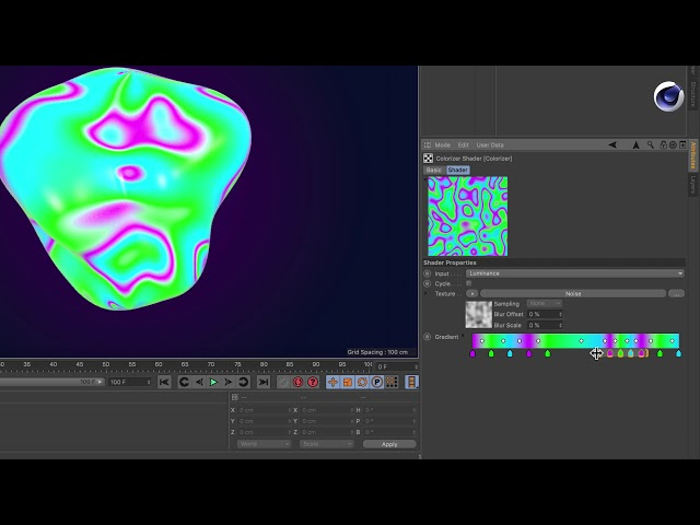 Tip - 248: How to use the new gradient in Cinema 4D R20