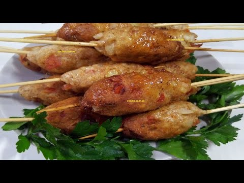 Сочный Люля Кебаб из куриного фарша дома на сковороде / Вкусно и Просто