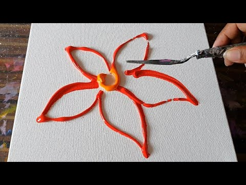 floral-painting-demo-in-acrylics-/-easy-for-beginners-/-relaxing-/-daily-art-therapy-/-day-#0183