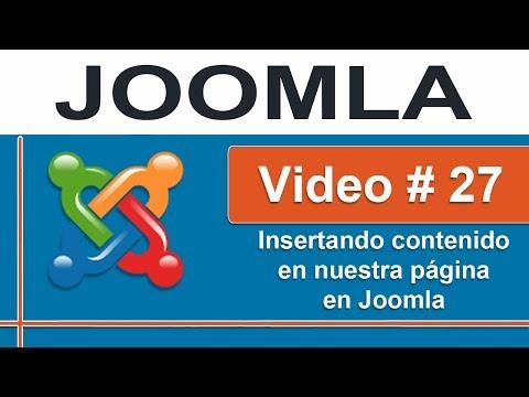 Insertando contenido en Joomla