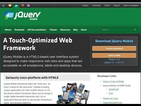 jquery mobile login template - sample jquery mobile doovi