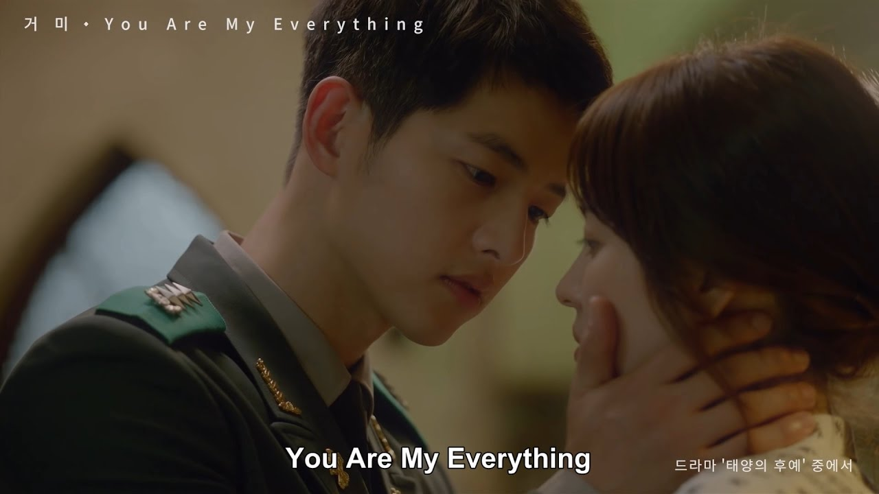 Gummy(거미)/ You Are My Everything(태양의 후예 OST) ルビ+歌詞+日本語訳 - YouTube