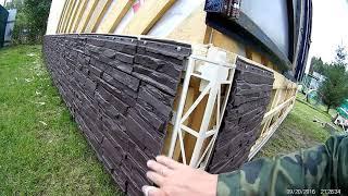 Отделка фундамента дома своими руками: облицовка цоколя (видео)