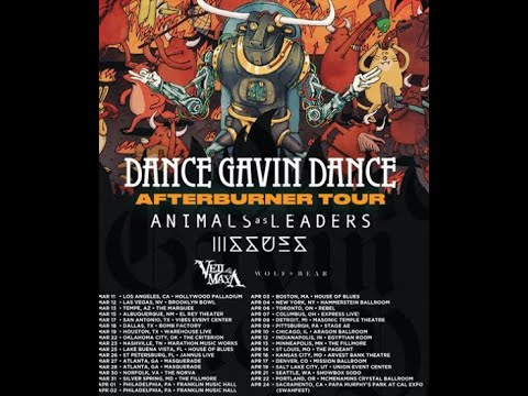 Dance Gavin Dance, Animals As Leaders, Issues + Veil Of Maya N.A. tour rescheduled for 2021