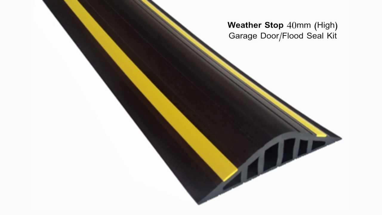 Weather stop 40mm high garage door flood barrier seal kit weather stop 40mm high garage door flood barrier seal kit youtube rubansaba