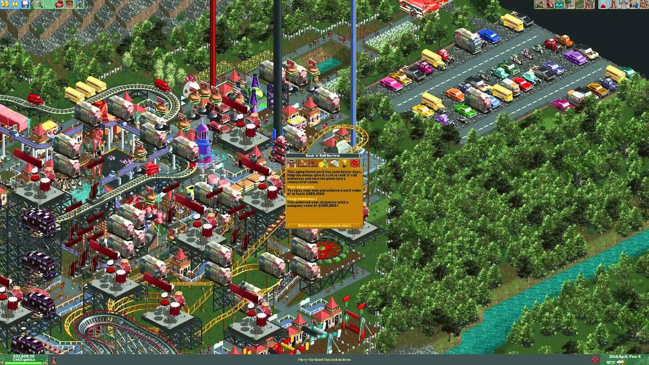 Rock and Roll revival scenario complete - Roller Coaster Tycoon 2