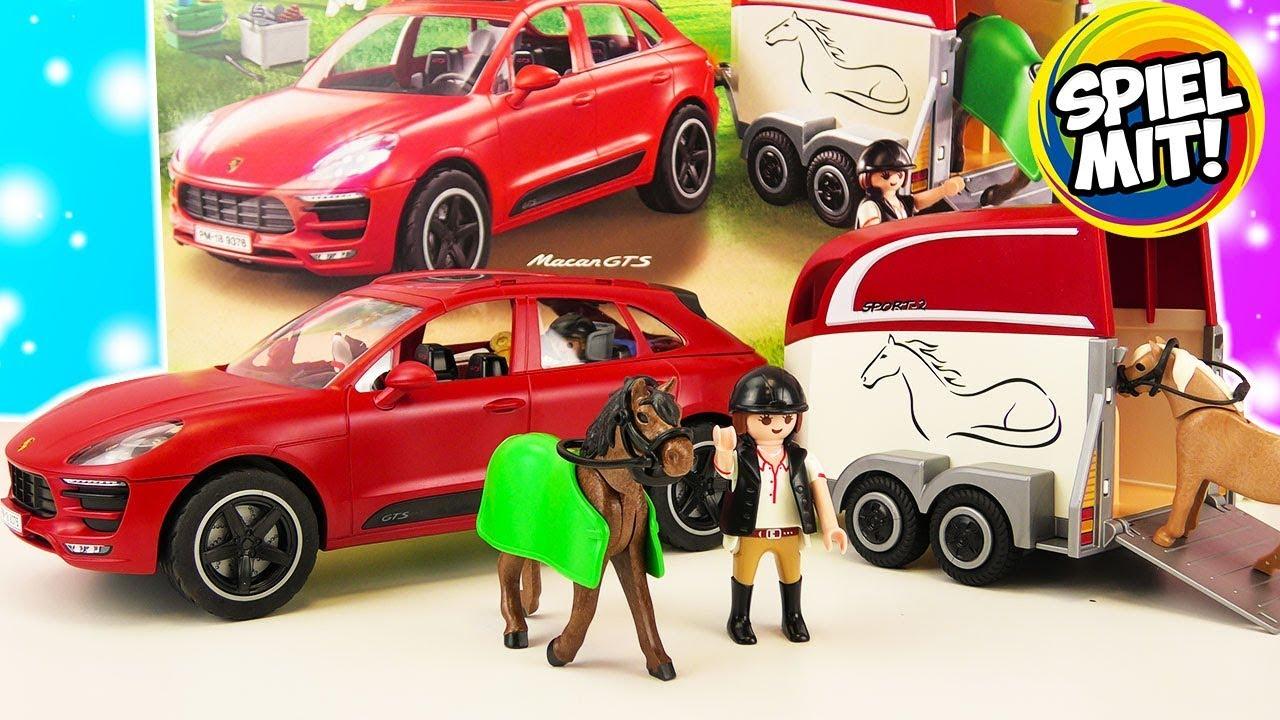auf zum reitturnier playmobil porsche macan gts mit. Black Bedroom Furniture Sets. Home Design Ideas