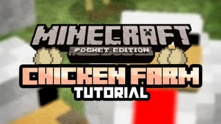 How to build a Chicken Farm | Minecraft Pocket Edition | Pocket Labs EP:1