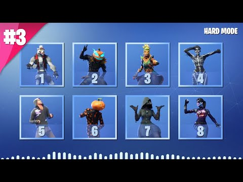 GUESS THE FORTNITE DANCE BY ITS MUSIC - PART 3 - HARD MODE | tusadivi