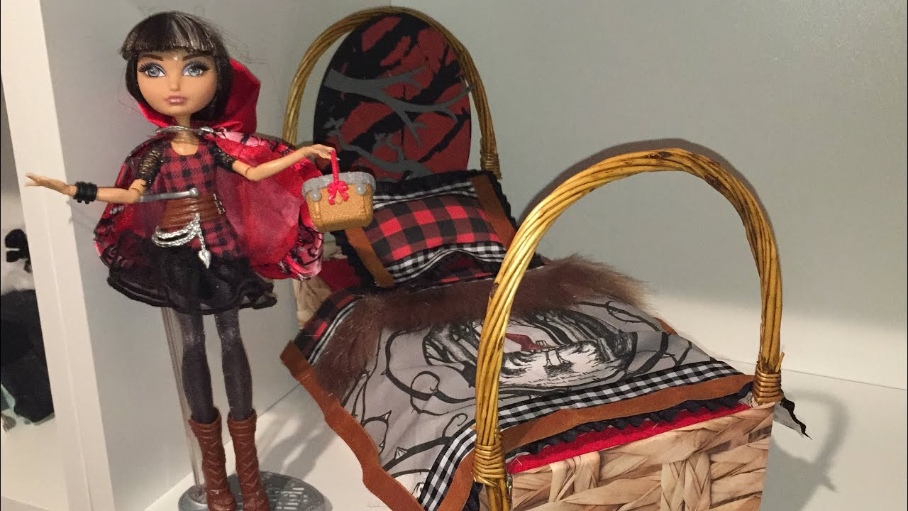 cerise hood doll bed remake ever after high youtube