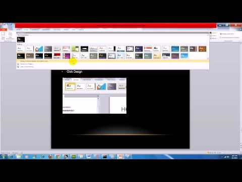 PowerPoint 2010:How to Import a New Master Template or Theme Into Your Presentation