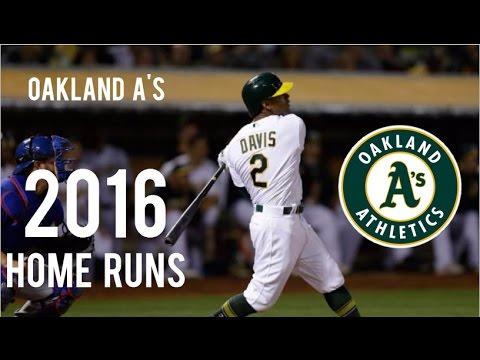 Oakland Athletics | 2016 Home Runs (169)