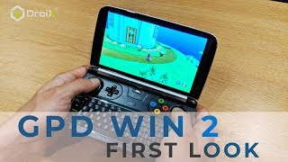 GPD Win 2 First Look -  Handheld Windows 10 gaming and emulation PC. Play Steam games and more!