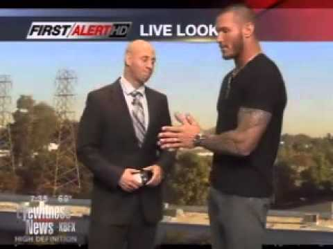 WWE wrestler Randy Orton faces off with weathercaster Aaron Perlman  Eyewitness News Mornings Bakersfield Now News, Weather and Sports