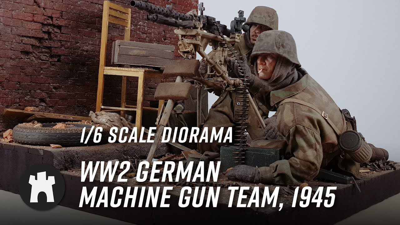 Download 1/6 Scale Diorama - WW2 German Machine Gun Team, 1945