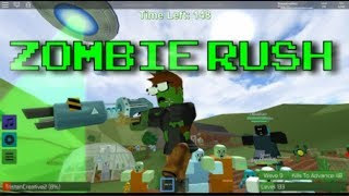 ROBLOX ZOMBIE RUSH NEW GUNS ARE LIT: LEVEL UP TO 100 SUPER FAST