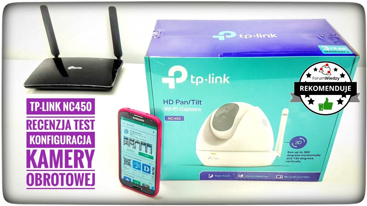 TP-LINK NC450 review test configuration of swivel camera WiFi LAN HD WPS PT  IR