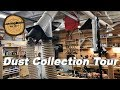 Woodworking shop dust collection system tour
