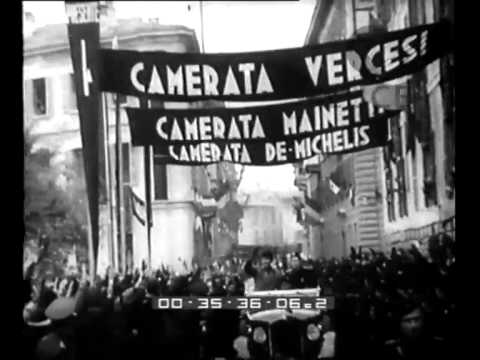 La visita di Mussolini a Pavia.