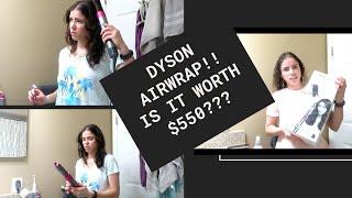 DYSON AIRWRAP FIRST IMPRESSION!!