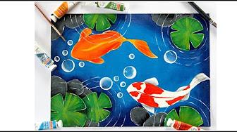 Acrylic Painting Ideas Fish Youtube