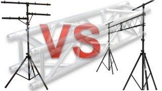 Lighting Stands - Tbar vs Truss