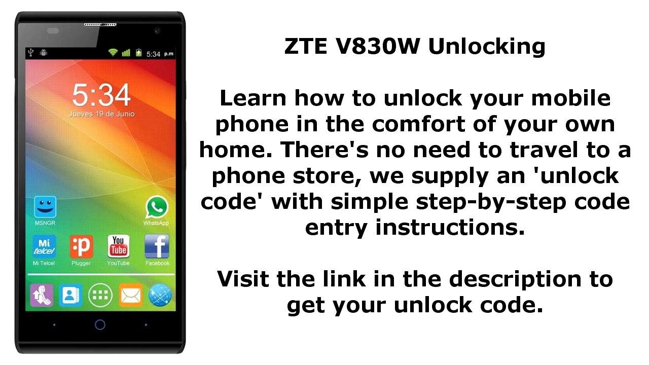 Unlock Zte V830w Sim Network Pin Blade Lux