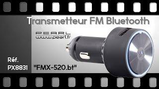 TRANSMETTEUR FM BLUETOOTH DESIGN - le son de votre mobile dans votre voiture - [PEARLTV.FR]
