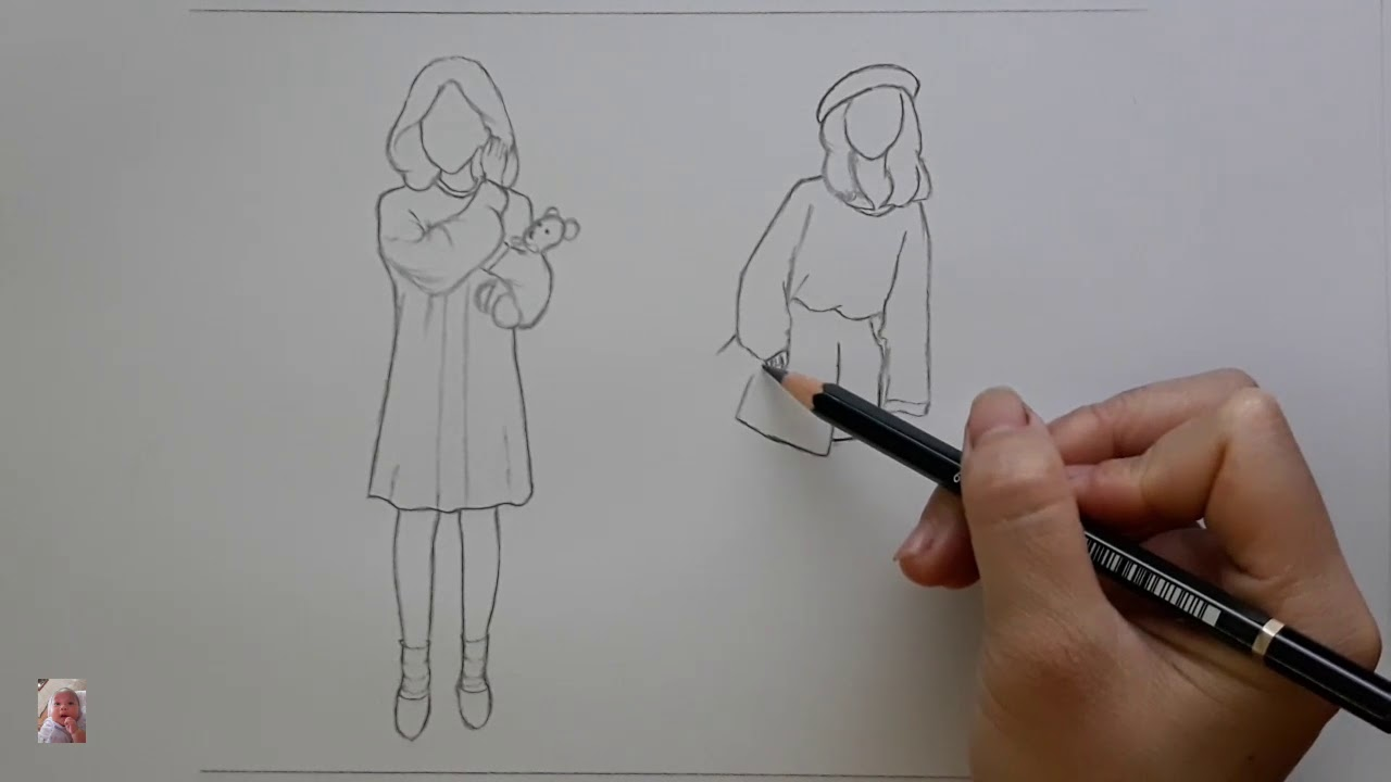 Vẽ thời trang – Fashion drawing.