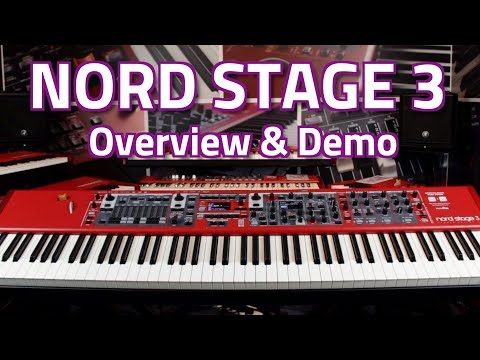 Nord Stage 3 88 Digital Piano, Synth & Organ - Overview & Demo