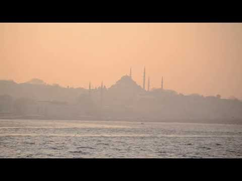 Crossing the bosphorus strait from Europe to Asia