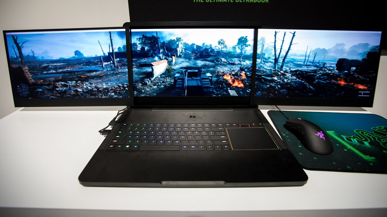 Razer S Quot Project Valerie Quot 3 Screen Gaming Laptop Prototype