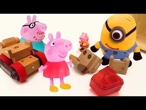Çocuklar için video - Peppa Pig oyuncakları- Peppa ve George yeni oyuncağı kırmışlar